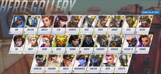 Overwatch hero gallery