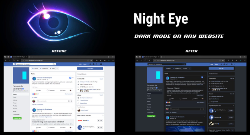 Night Eye – Dark Mode for Most Browsers on All Sites